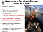 governance in sustainable fishery a model for forests