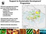 support to sustainable development programme