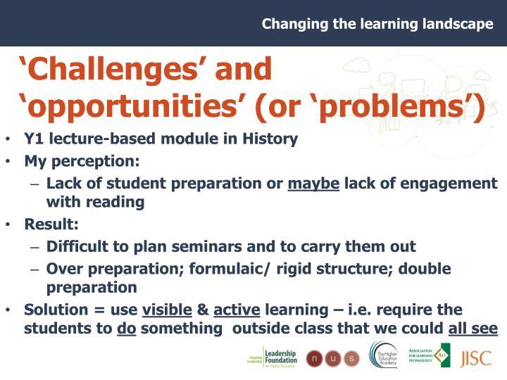 'Challenges