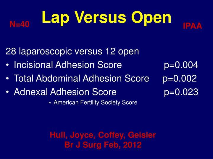Lap Versus Open