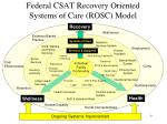 federal csat recovery oriented systems of care rosc model