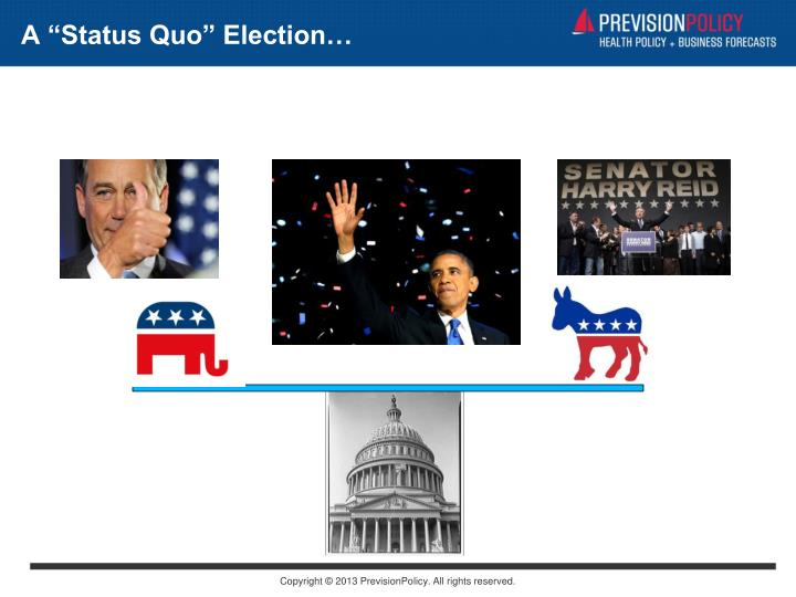 "A ""Status Quo"" Election…"