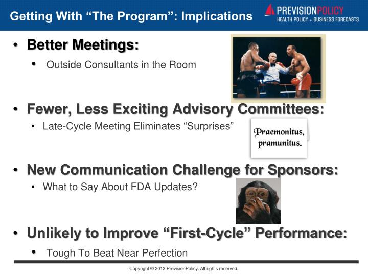 "Getting With ""The Program"": Implications"