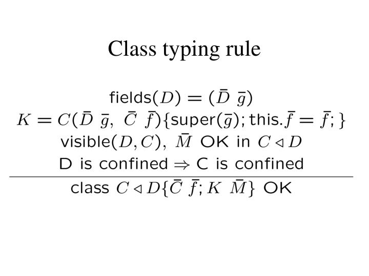 Class typing rule