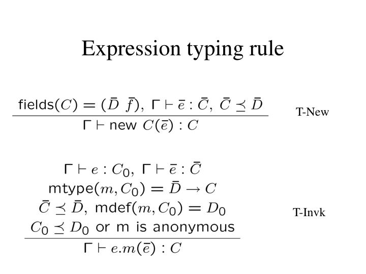 Expression typing rule