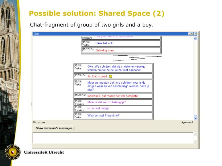 Possible solution: Shared Space (2)