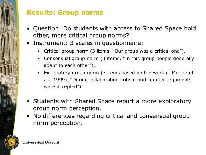 Results: Group norms