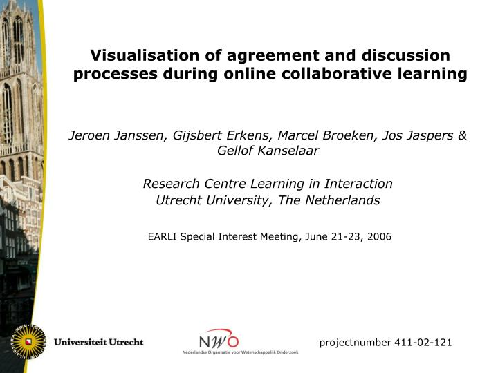 Visualisation of agreement and discussion processes during online collaborative learning