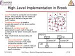 high level implementation in brook