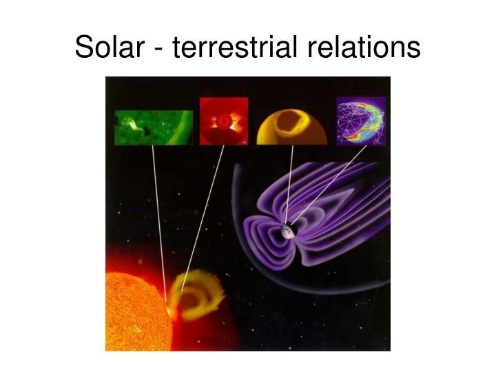 Solar terrestrial relations