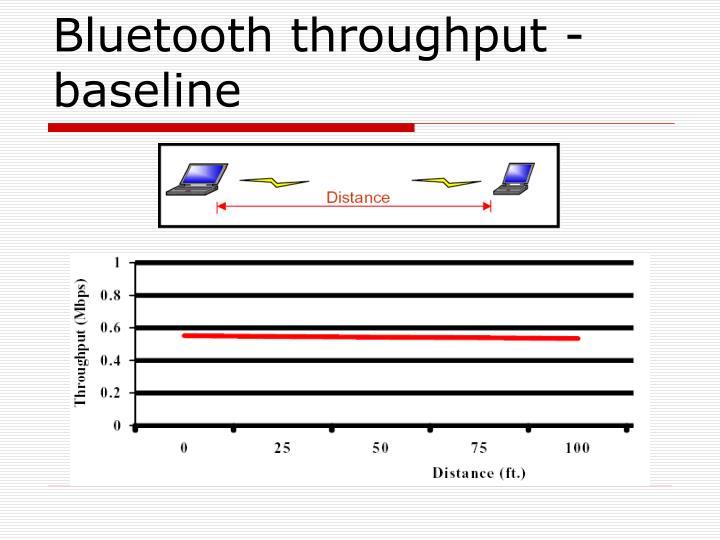 Bluetooth throughput - baseline