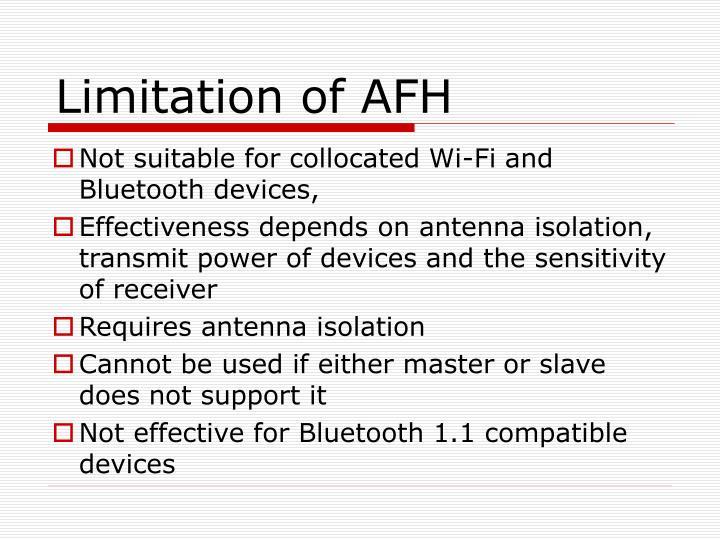 Limitation of AFH