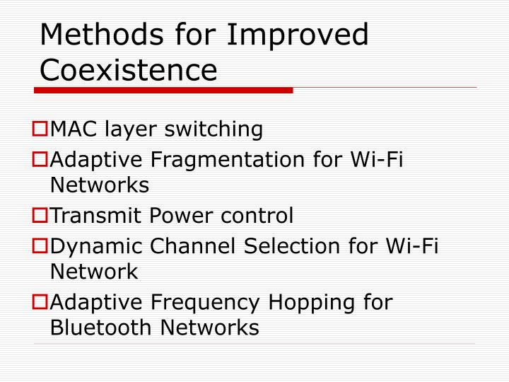 Methods for Improved Coexistence