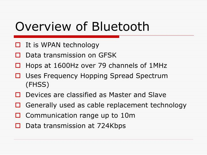 Overview of Bluetooth