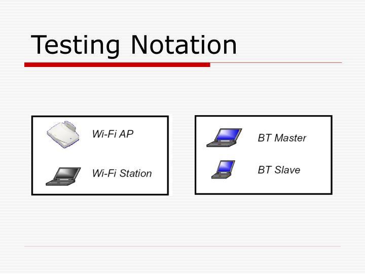 Testing Notation