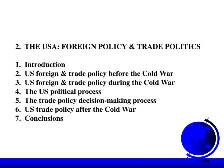 an introduction to the united states foreign policy in the cold war