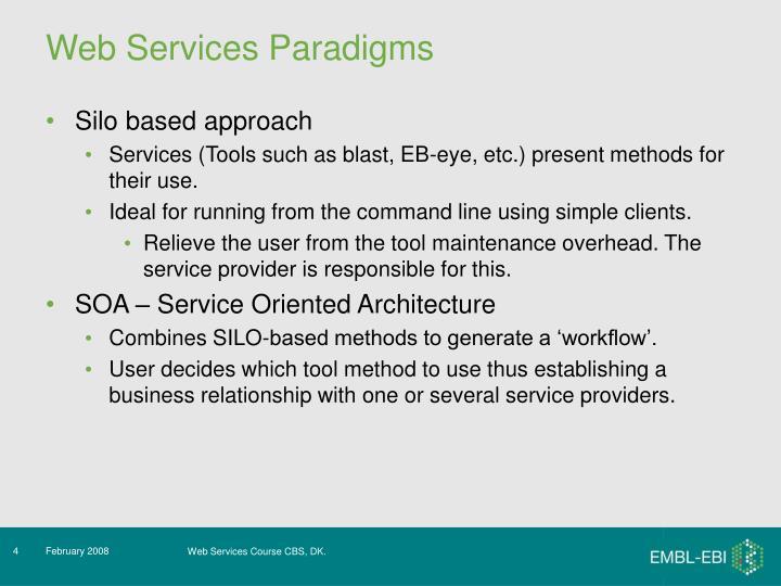 Web Services Paradigms