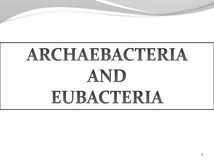Difference between archaebacteria and eubacteria   characteristics.