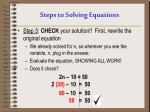 steps to solving equations2