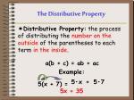 the distributive property1