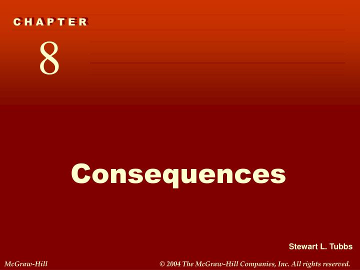 consequences n.