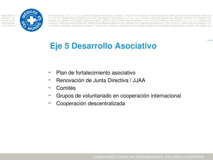 Eje 5 Desarrollo Asociativo