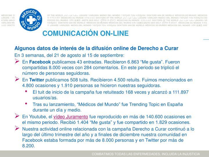 COMUNICACIÓN ON-LINE