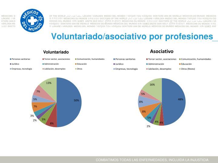 Voluntariado/asociativo por profesiones