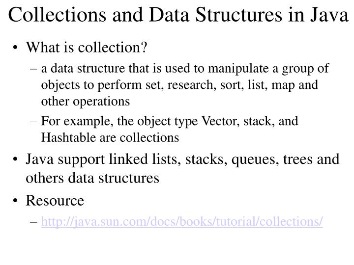 Collections and Data Structures in Java