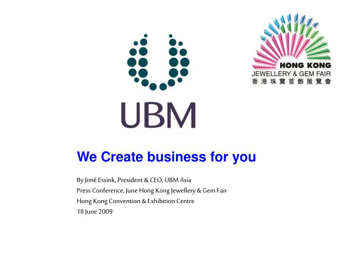 we create business for you n.