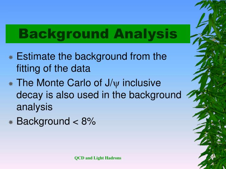 Background Analysis