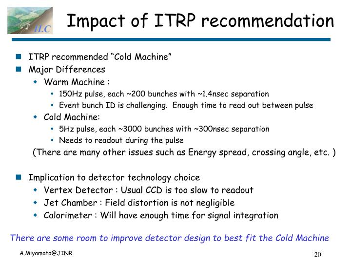 Impact of ITRP recommendation