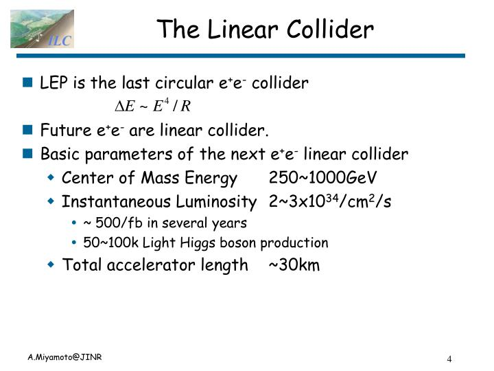 The Linear Collider