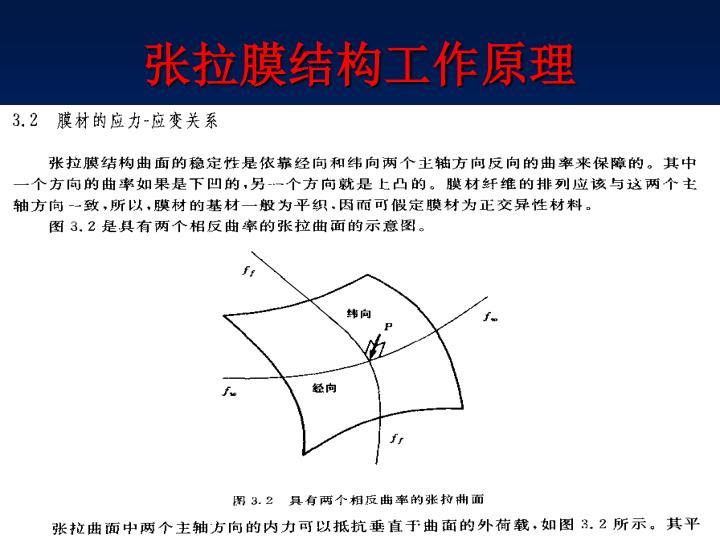 张拉膜结构工作原理