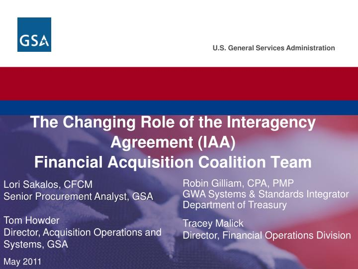Ppt The Changing Role Of The Interagency Agreement Iaa Financial