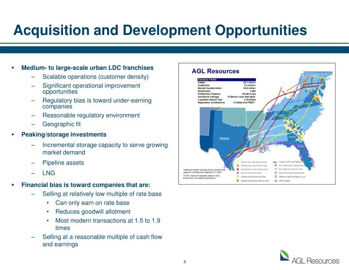 Acquisition and Development Opportunities