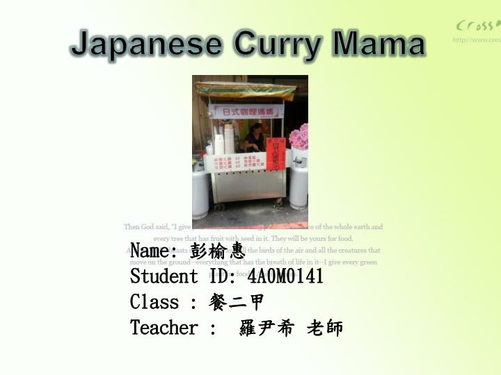 japanese curry mama n.