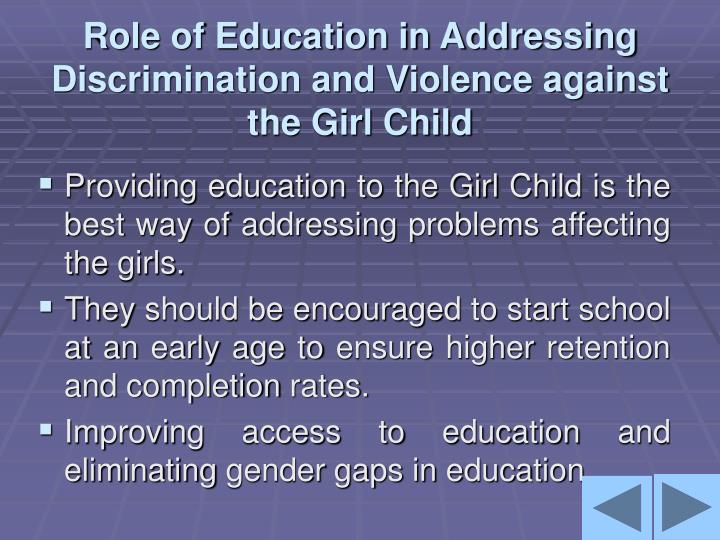 discrimination against girl child Towards eliminating discrimination against the girl child quick access go to main content [shortcut key s], by skipping navigation.