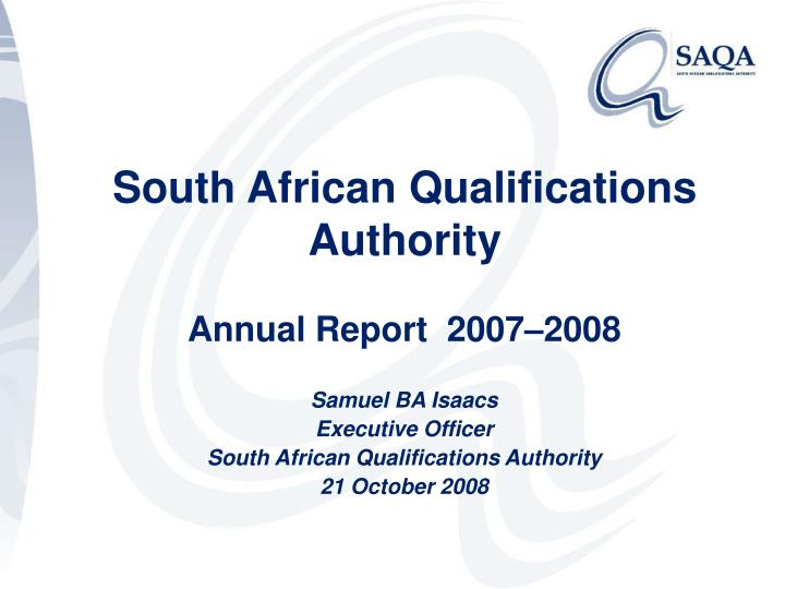 south african qualifications authority n.