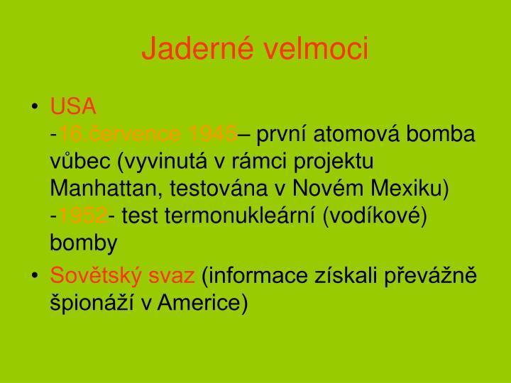 Jadern velmoci