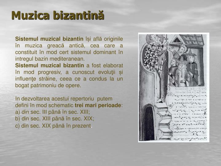 Muzica bizantin