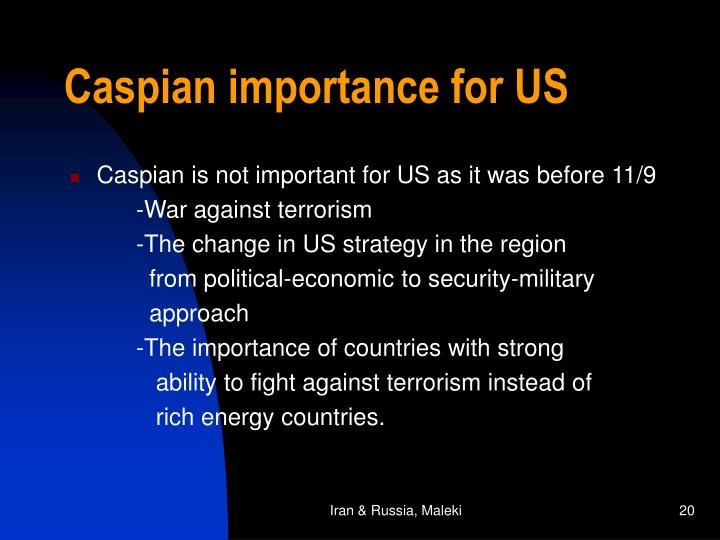 Caspian importance for US