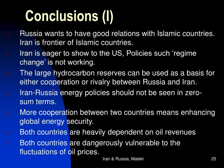 Conclusions (I)