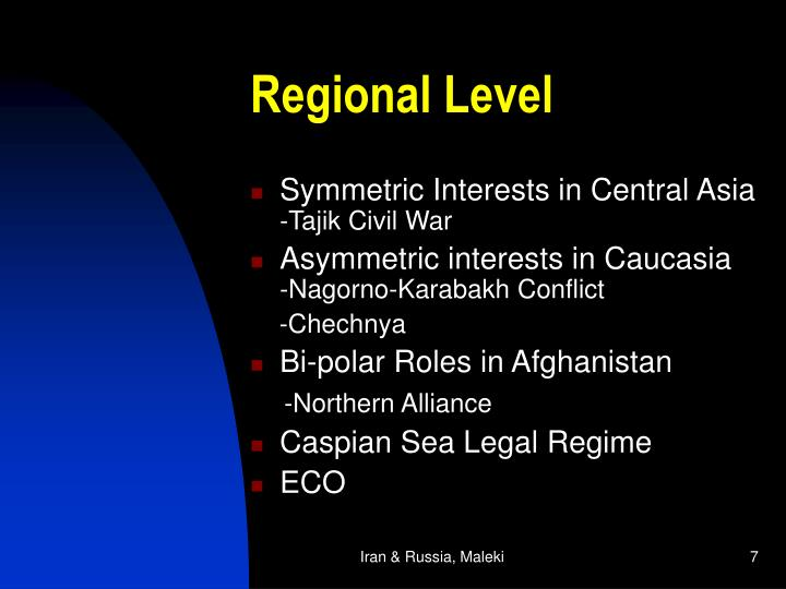 Regional Level