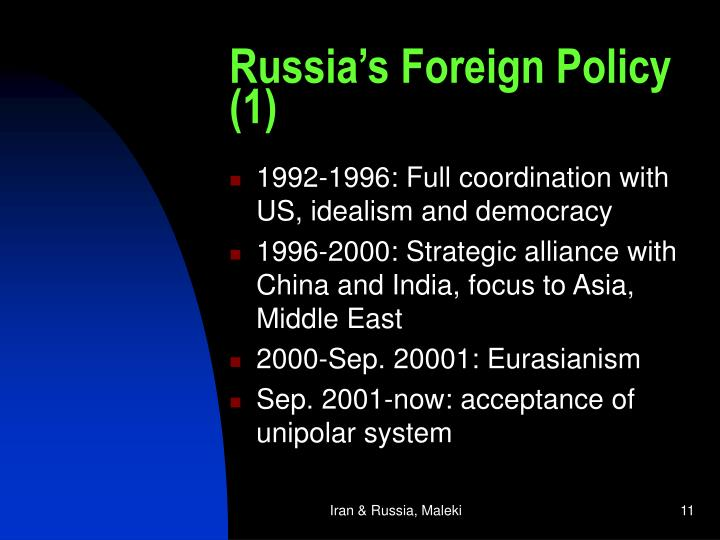 Russia's Foreign Policy (1)