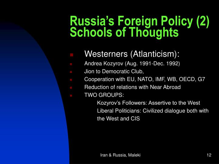 Russia's Foreign Policy (2)
