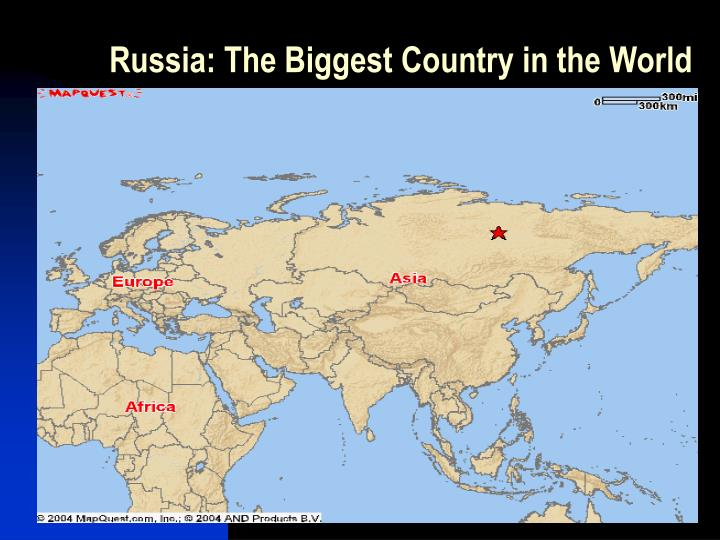 Russia the biggest country in the world