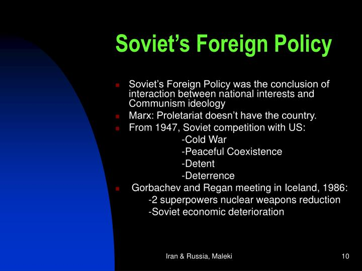 Soviet's Foreign Policy
