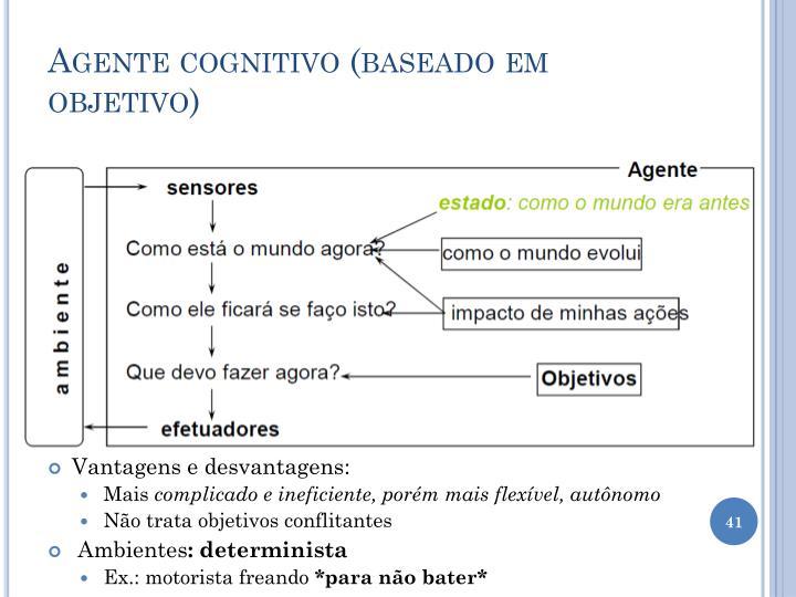 Agente cognitivo (baseado em objetivo)