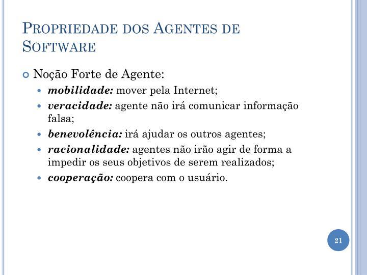 Propriedade dos Agentes de Software